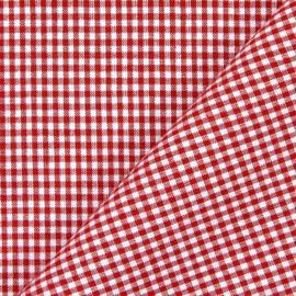 Ruitjesstof - rood/wit - 95cm x 1.20m br.