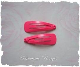 (HAba-004) 2 klik-klakspeldjes - baby - fuchsia - 3cm
