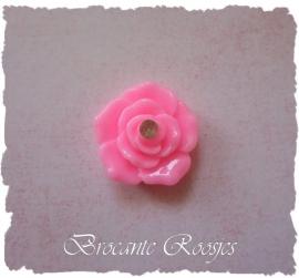 (FLr-012) Flatback - roosje - roze - strass steentje - 2cm