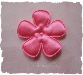 (BLE-062) Bloem - satijn - roze - 47mm