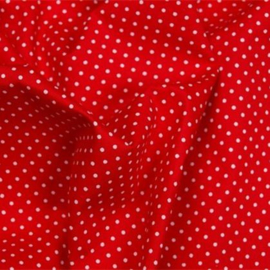 Stipjes stof - rood/wit - 70cm x 48cm