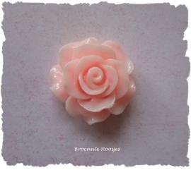 (FLr-015a) Flatback - roosje - perzik roze - 20mm