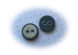 (Kn-003) Vintage knoopje - crème/grijs - 11mm