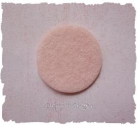 (Vr-002a) Vilt rondje - zacht licht roze - 32mm