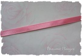 (SA-024) Satijn lint  - roze - 10mm