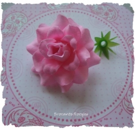 (R-bl-002) Roos met afneembare bloemblaadjes - roze - 4cm