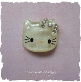 (FLh-001) Kitty flatback - strikje - strass - 2cm