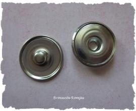 (DIV-020) Noosa drukknoopje - zilver - 18mm