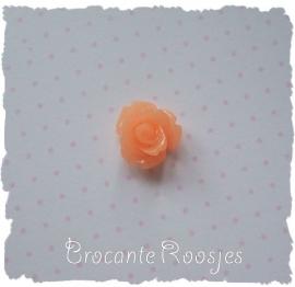(FLr-001k) Flatback roosje - licht oranje - 10mm