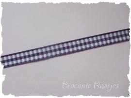(RU-021) Ruitjesband - paars - 10mm