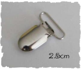 (SPe-002) Speenkoord clip - metaal - recht - 2,5cm
