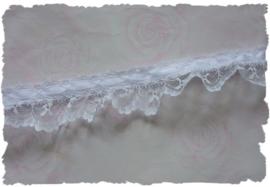 (K-033) Kant met wit lint - ruche - 35mm