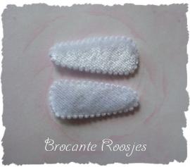 (HOBe-027) 2 hoesjes - baby - fluweel - wit