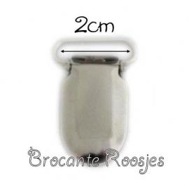 (SPe-001) Speenkoord clip - metaal - recht - 2cm