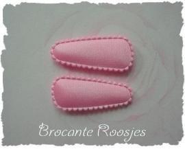 (HOBe-003) 2 hoesjes - baby - satijn - licht roze