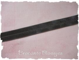 (EB-022) Vouw-elastiek - donkergrijs - 2cm