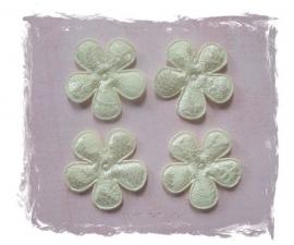 (BL-ka-004) 4 bloemen met kant - creme - 35mm