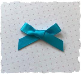(Sz-017) Strikje - zelfklevend - turquoise - 25mm
