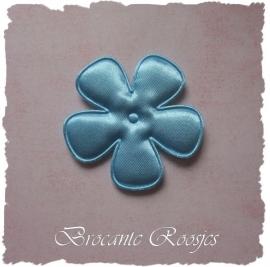 (BLE-065) Bloem - satijn - licht blauw - 47mm