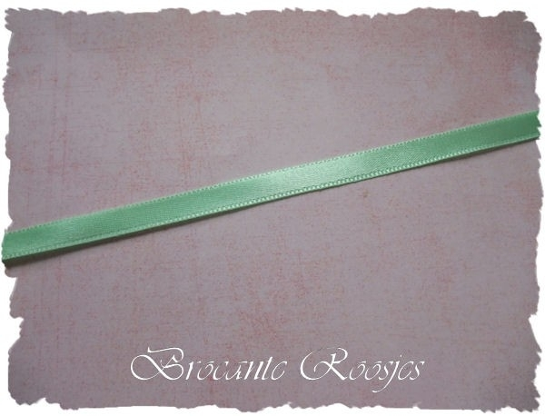 (SA-016) Satijn lint - lime - 7mm