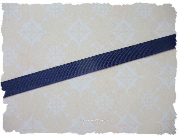 (GG-005) Grosgrain band - korenblauw - 10mm