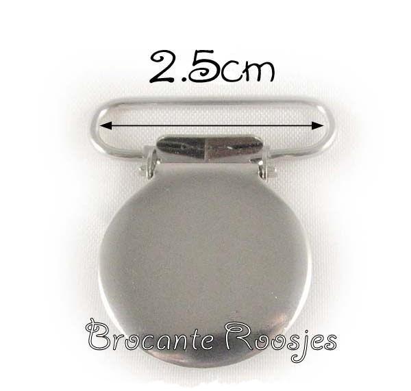 (SPe-004) Speenkoord clip - metaal - rond - 2,5cm