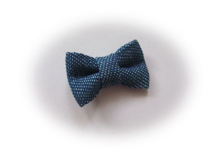 (Sd-013) Strikje - denim  blue - 3cm