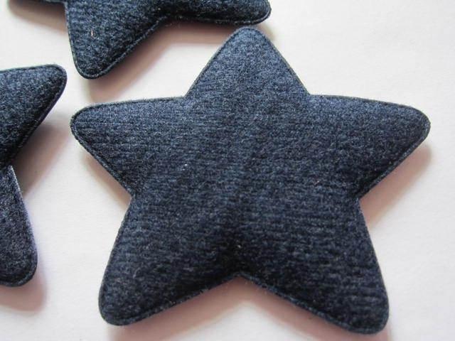 (Ster-058) Ster - donker blauw - vilt - 75mm