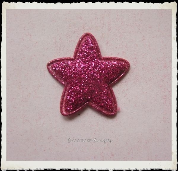 (Ster-032) Ster - glitter - fuchsia - 25mm