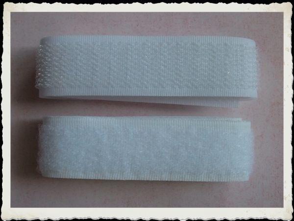(KL-001) Klittenband - 2cm breed - wit - per 50cm*