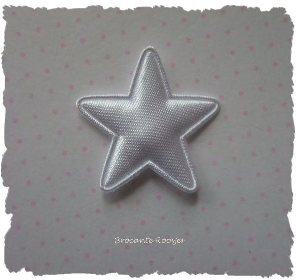 (Ster-020) Ster - satijn - wit - 25mm