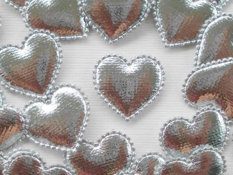 (H-004a) Hartje - zilver - 2cm