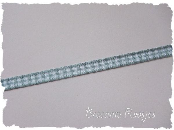 (RU-013) Ruitjesband - grijs - 5mm