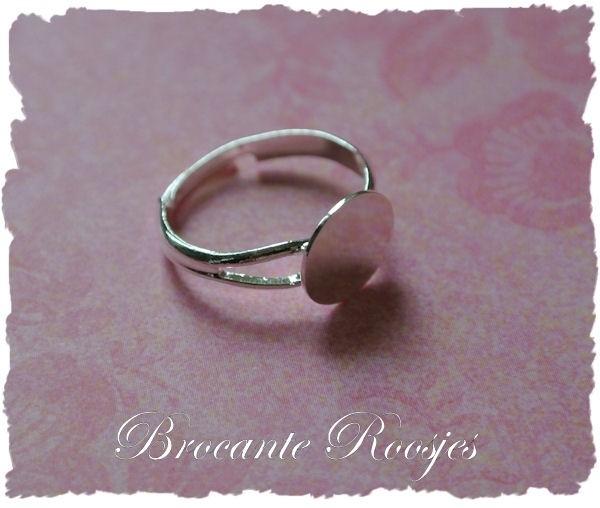 (Rp-004) Verstelbare ring met plakvlakje 10mm - diameter 17mm