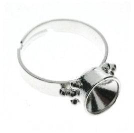 (Rp-010) Verstelbare ring voor Swarovski puntsteen SS39