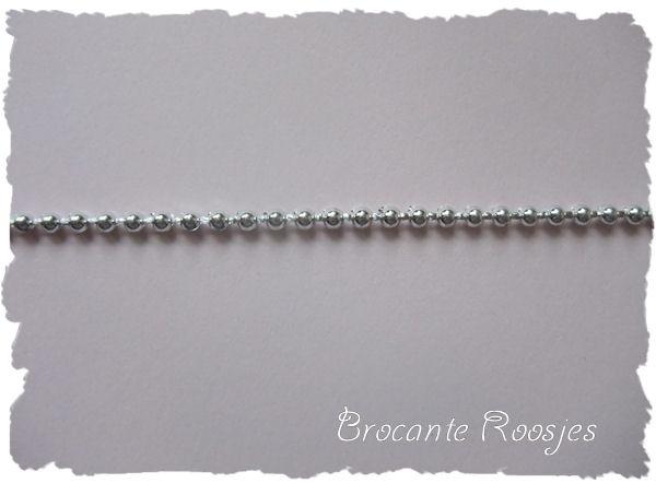 (PAR-002) Parelsnoer - zilver - 2.5mm