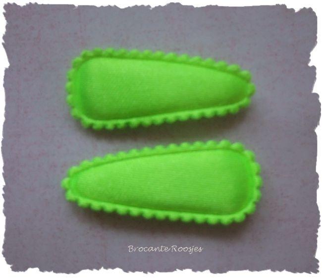 (HOBe-015) 2 hoesjes - baby - neon groen