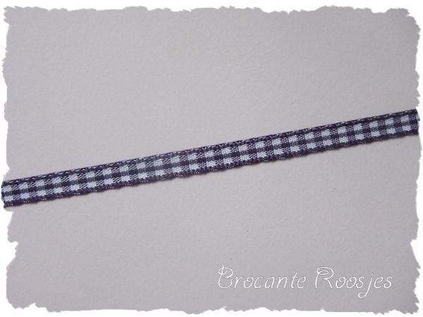 (RU-007) Ruitjesband - paars - 5mm