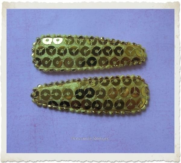 (HOd-021) 2 hoesjes - pailletjes - goud - glans - 55mm