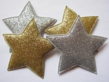 (Ster-054a) Ster - glitter - goud - 5cm