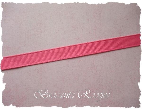 (GG-003) Grosgrain band - roze - 10mm