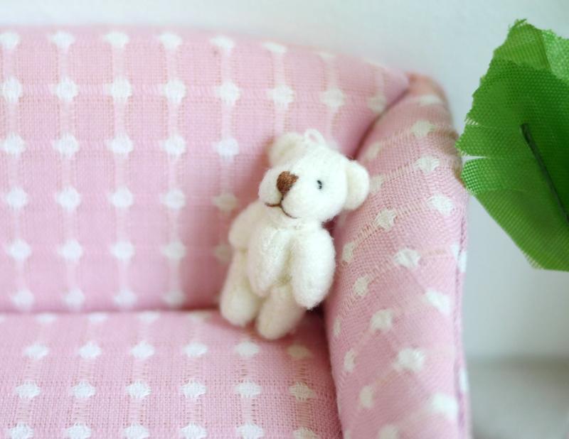 (B-011) Mini teddy beertje - wit - 5cm