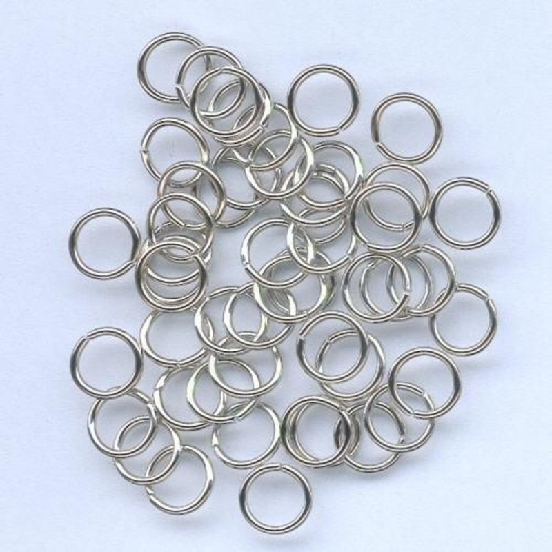 (DIV-021) 50 Splitringetjes - 6mm - kleur zilver