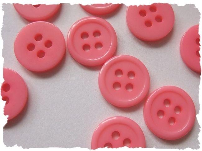 (Kn-005) Knoopje - roze - 10mm