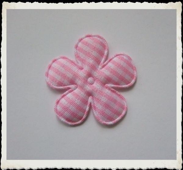 (BLr-008)  geruite bloem - lichtroze - 35mm