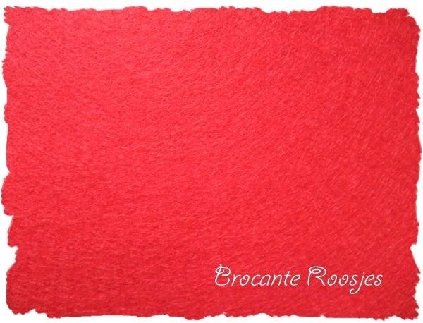 (VI-005) Vilt lapje - rood