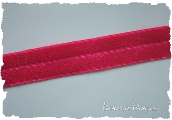 (EB-015) Vouw-elastiek - fuchsia - 2cm