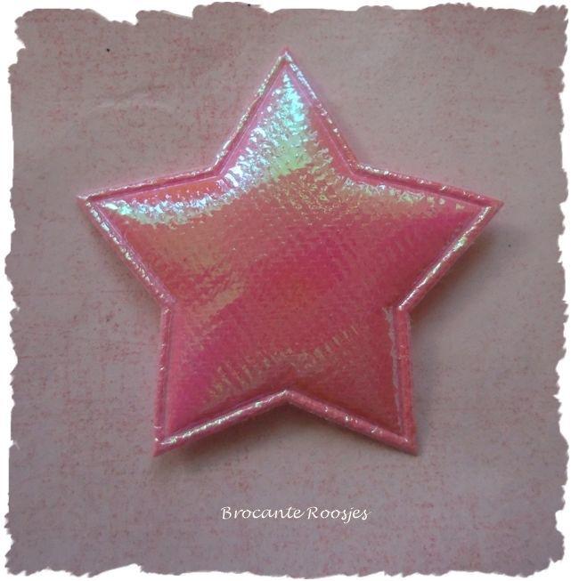 (Ster-053) Ster - licht roze - 4cm