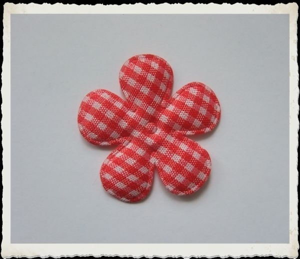 (BLr-010) geruite bloem - rood - 35mm