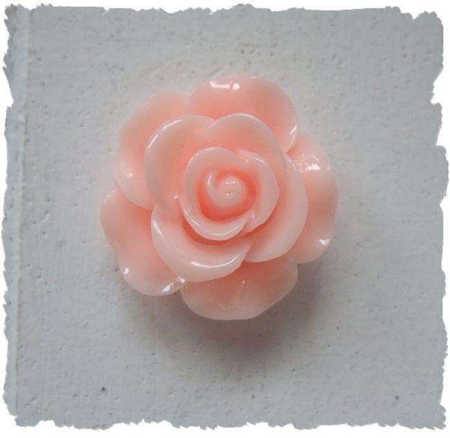 (FLr-004) Flatback - roosje - licht roze - 20mm